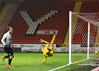Jack Marriott of Peterborough United scores his sides second goal during the Sky Bet League 1 match between Charlton Athletic and Peterborough at The Valley, London, England on 28 November 2017. Photo by Vince  Mignott / PRiME Media Images.