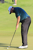 Shane Lowry (IRL) putts on the 18th green during Thursday's Round 1 of the 2018 Turkish Airlines Open hosted by Regnum Carya Golf &amp; Spa Resort, Antalya, Turkey. 1st November 2018.<br /> Picture: Eoin Clarke | Golffile<br /> <br /> <br /> All photos usage must carry mandatory copyright credit (&copy; Golffile | Eoin Clarke)