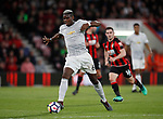 Paul Pogba of Manchester United in action during the premier league match at the Vitality Stadium, Bournemouth. Picture date 18th April 2018. Picture credit should read: David Klein/Sportimage