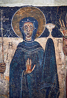 Romanesque frescoes of the Virgin Mary from the church of Sant Roma de les Bons, painted around 1164, Encamp, Andorra. National Art Museum of Catalonia, Barcelona. MNAC 15783