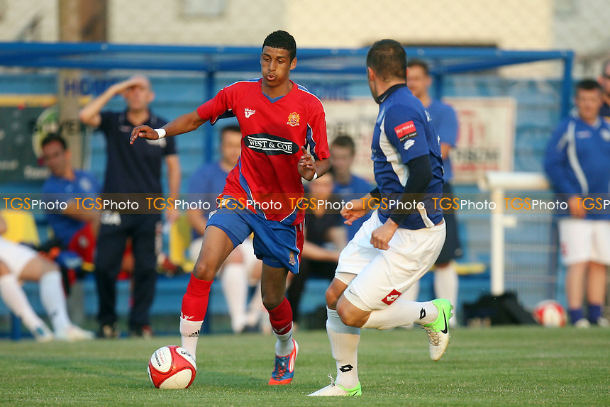 Louis Dennis of Dagenham -  Concord Rangers vs Dagenham - 25/07/12 - MANDATORY CREDIT: Dave Simpson/TGSPHOTO - Self billing applies where appropriate - 0845 094 6026 - contact@tgsphoto.co.uk - NO UNPAID USE