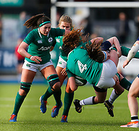 2nd February 2020; Energia Park, Dublin, Leinster, Ireland; International Womens Rugby, Six Nations, Ireland versus Scotland; Aoife McDermott of Ireland is tackled by Rachel McLachlan of Scotland