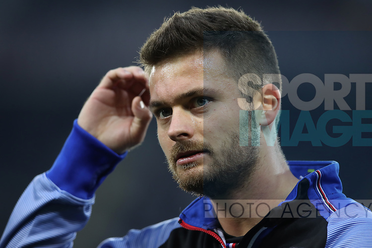 Karol Linetty of Sampdoria during the Serie A match at Stadio Grande Torino, Turin. Picture date: 8th February 2020. Picture credit should read: Jonathan Moscrop/Sportimage