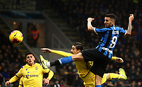 Calcio, Serie A: Inter Milano - Hellas Verona, Giuseppe Meazza stadium, November 9, 2019.<br /> Inter's Matias Vecino (r) scores during the Italian Serie A football match between Inter and Hellas Verona at Giuseppe Meazza (San Siro) stadium, on November 9, 2019.<br /> UPDATE IMAGES PRESS/Isabella Bonotto