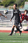 Palos Verdes, CA 02/03/12 - Charles Chae (Peninsula #9) in action during the Peninsula vs Palos Verdes boys varsity soccer game.