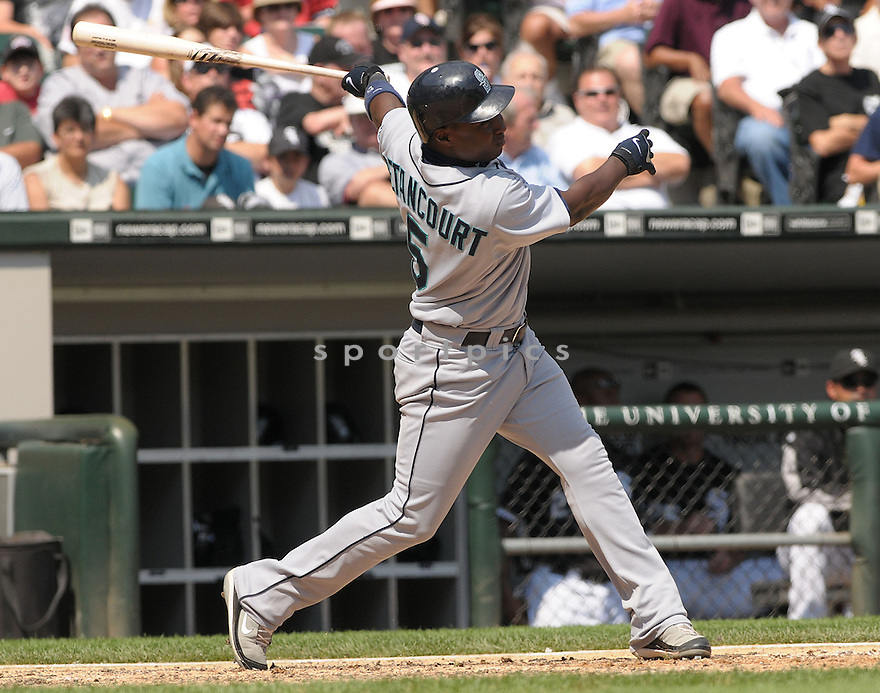 YUNIESKY BETANCOURT, of the Seattle Mariners , in action during the Mariners game against the Chicago White Sox, in Chicago, IL  on August 20, 2008..The Chicago White Sox  won 15-3