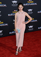Mackenzie Foy at the premiere for &quot;Thor: Ragnarok&quot; at the El Capitan Theatre, Los Angeles, USA 10 October  2017<br /> Picture: Paul Smith/Featureflash/SilverHub 0208 004 5359 sales@silverhubmedia.com