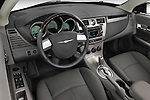 2008 Chrysler Sebring Convertible High angle dashboard view Stock Photo