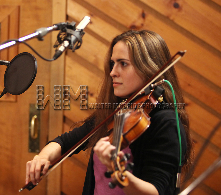 "Erikka Walsh.recording the Broadway Oriinal Cast Recording of ''Once - a new musical""  at Avatar Studios in New York City on 1/17/2012. © Walter McBride / WM Photography /"