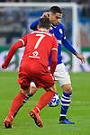 11.12.2018, VELTINS Arena, Gelsenkirchen, Deutschland, GER, UEFA Champions League, Gruppenphase, Gruppe D, FC Schalke 04 vs. FC Lokomotiv Moskva / Moskau<br /> <br /> DFL REGULATIONS PROHIBIT ANY USE OF PHOTOGRAPHS AS IMAGE SEQUENCES AND/OR QUASI-VIDEO.<br /> <br /> im Bild Zweikampf zwischen Grzegorz Krychowiak (#7 Moskau) und Omar Mascarell (#6 Schalke)<br /> <br /> Foto © nordphoto / Kurth