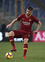 Football, Serie A: AS Roma - Genoa, Olympic stadium, Rome, December 16, 2018. <br /> Roma&rsquo;s Bryan Cristante in action during the Italian Serie A football match between Roma and Genoa at Rome's Olympic stadium, on December 16, 2018.<br /> UPDATE IMAGES PRESS/Isabella Bonotto