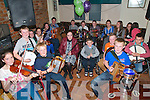 Ballydonoghue/Liselton CCE winners Concert: Members of the Ballydonoghue/Liselton CCE who won medals at this years Fleadh in Derry in concert at Brosnan's Bar, Listowel on Friday night last. Included are the U/12 trio group of Roisin Kissane, Darragh Mackessy & Ryan O'Neill who won Silver and Neilus Mackessy who was 1st in U/15 Accordion.