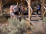 Interpretation centre at Desert Centre, in Canada's only desert, Osoyoos, South Okanagan British Columbia, BC Canada<br />