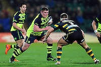 Tadhg Furlong of Leinster Rugby in possession. European Rugby Champions Cup match, between Northampton Saints and Leinster Rugby on December 9, 2016 at Franklin's Gardens in Northampton, England. Photo by: Patrick Khachfe / JMP