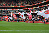 Arsenal Flags during Arsenal vs West Ham United, Premier League Football at the Emirates Stadium on 7th March 2020