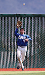 Western Nevada College's Jake Bennett makes a catch against the College of Southern Nevada during a college baseball game at John L. Harvey field, on Sunday, April 27, 2014, in Carson City, Nev.<br /> Photo by Cathleen Allison/Nevada Photo Source