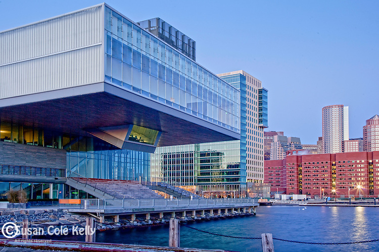 The Institute of Contemporary Art in the Seaport District on the waterfront in Boston, MA