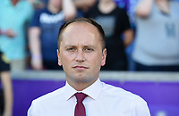 Orlando, FL - Saturday October 14, 2017: Mark Parsons during the NWSL Championship match between the North Carolina Courage and the Portland Thorns FC at Orlando City Stadium.