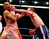 November 9th 2007 - Esham Pickering and Sean Hughes trade blows during their bout at the Ice Arena, Nottingham, England