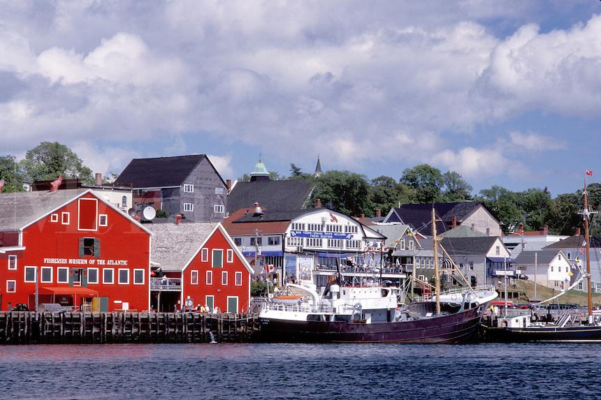 Nova Scotia, NS, lunenburg, Canada, Fisheries Museum of the Atlantic at the scenic village of Lunenburg, UNESCO World Heritage Site, on the Atlantic Ocean.