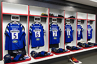 A general view in the home changing rooms prior to the match. Gallagher Premiership match, The Clash, between Bath Rugby and Bristol Rugby on April 6, 2019 at Twickenham Stadium in London, England. Photo by: Patrick Khachfe / Onside Images