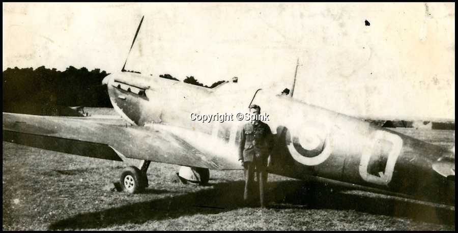 BNPS.co.uk (01202 558833)<br /> Pic: Spink/BNPS<br /> <br /> ***Please Use Full Byline***<br /> <br /> Hamlyn, No. 610 Squadron, Biggin Hill.<br /> <br /> The remarkable story of a prolific RAF hero who achieved 'ace' status in just two-and-a-half hours of flying has come to light after his medals were put up for sale.<br /> <br /> Squadron Leader Ronald Fairfax Hamlyn went up in his Spitfire three times on August 24, 1940, at the very height of the Battle of Britain.<br /> <br /> He was awarded the Distinguished Flying Medal which, along with the rest of his medals, is being sold in London for an estimated £60,000.