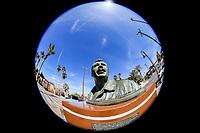 Bust or statue of the Mexican political martyr of the PRI party, Luis Donaldo Colosio in the tourist destination Puerto Peñasco, Sonora, Mexico. (Photo: Luis Gutierrez /NortePhoto.com)<br /> <br /> Busto o estatua del martir politico mexicano del partido PRI, Luis Donaldo Colosio en el destino turistico Puerto Peñasco, Sonora, Mexico. (Photo: Luis Gutierrez /NortePhoto.com)