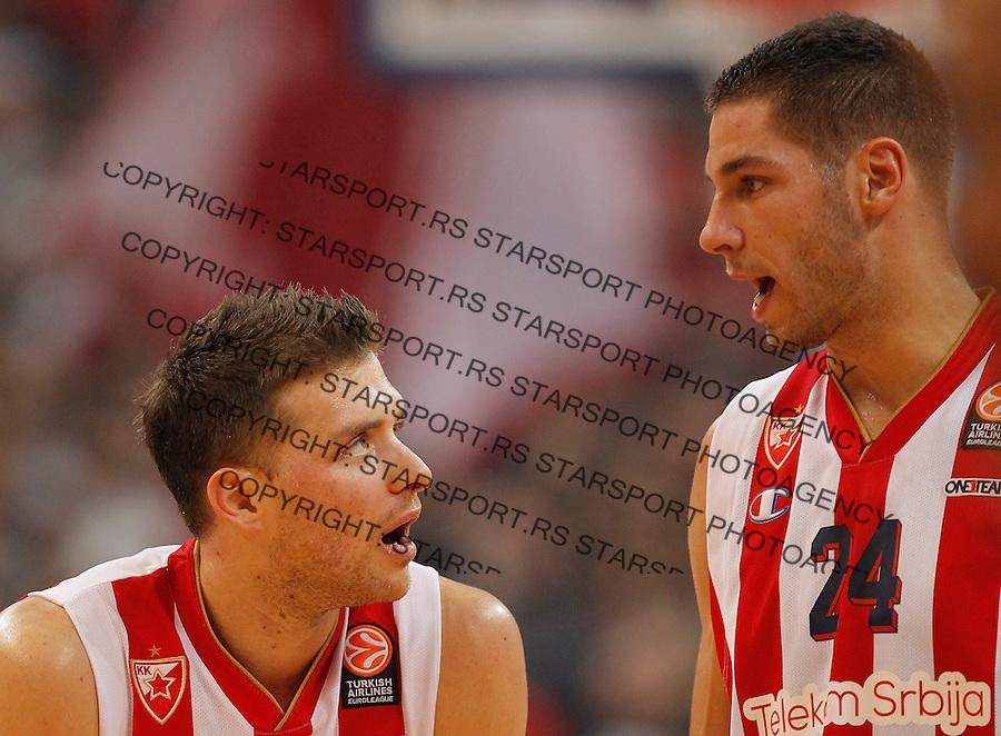 Kosarka Euroleague season 2015-2016<br /> Euroleague <br /> Crvena Zvezda v Fenebahce Istanbul<br /> Gal Mekel and Stefan Jovic<br /> Beograd, 06.11.2015.<br /> foto: Srdjan Stevanovic/Starsportphoto &copy;