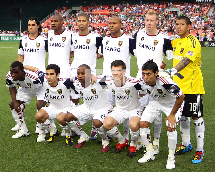 Starting eleven  of Real Salt Lake during an MLS match against D.C. United at RFK Stadium, on June 5 2010 in Washington DC. The game ended in a 0-0 tie.