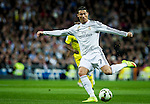 Real Madrid portuguse forward Cristiano Ronaldo during spanish league football match beetwen Real Madrid and Villarreal CF at the Santiago Bernabeu stadium in Madrid on march 01, 2015. Samuel de Roman / Photocall3000