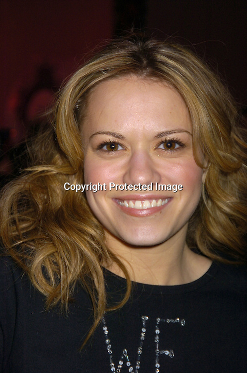 Bethany Joy Lenz of One Tree Hill ..at the Zang Toi Fall 2005 Fashion Show on February 5, 2005 at Bryant Park. ..Photo by Robin Platzer, Twin Images