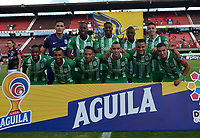 CÚCUTA-COLOMBIA, 27-11-2019: Jugadores de Atlético Nacional, posan para una foto antes de partido de la fecha 6 de los cuadrangulares semifinales entre Cúcuta Deportivo y Atlético Nacional, por la Liga Águila II 2019, jugado en el estadio General Santander de la ciudad de Cúcuta. / Players of Atletico Nacional pose for a photo prior a match of the 6th date of the quarters semifinals between Cucuta Deportivo and Atletico Nacional, for the Aguila Leguaje II 2019 at the General Santander Stadium in Cucuta city. / Photo: VizzorImage / Manuel Hernández / Cont.