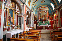 Interior of the Neo Classic Catholic Parish church of Ano Syros, Syros Island [ ????? ] , Greek Cyclades Islands