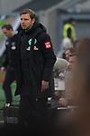 18.01.2020, Merkur Spielarena, Duesseldorf , GER, 1. FBL,  Fortuna Duesseldorf vs. SV Werder Bremen,<br />  <br /> DFL regulations prohibit any use of photographs as image sequences and/or quasi-video<br /> <br /> im Bild / picture shows: <br /> Florian Kohfeldt Trainer / Headcoach (Werder Bremen) regt sich heftig auf, Gestik, Mimik, unzufrieden / enttaeuscht / niedergeschlagen / frustriert, <br /> <br /> Foto © nordphoto / Meuter