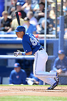 Toronto Blue Jays shortstop Munenori Kawasaki (66) during a spring training game against the Pittsburgh Pirates on February 28, 2014 at Florida Auto Exchange Stadium in Dunedin, Florida.  Toronto defeated Pittsburgh 4-2.  (Mike Janes/Four Seam Images)