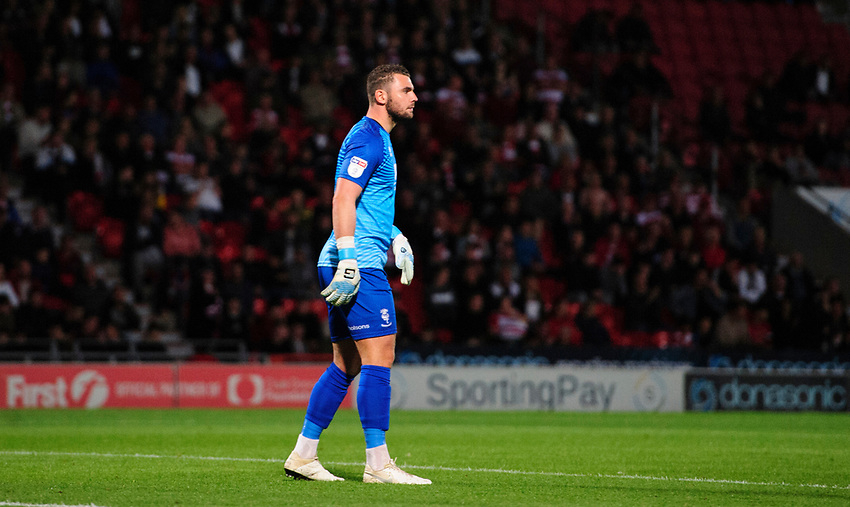 Lincoln City's Grant Smith<br /> <br /> Photographer Chris Vaughan/CameraSport<br /> <br /> EFL Leasing.com Trophy - Northern Section - Group H - Doncaster Rovers v Lincoln City - Tuesday 3rd September 2019 - Keepmoat Stadium - Doncaster<br />  <br /> World Copyright © 2018 CameraSport. All rights reserved. 43 Linden Ave. Countesthorpe. Leicester. England. LE8 5PG - Tel: +44 (0) 116 277 4147 - admin@camerasport.com - www.camerasport.com