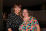 "As The World Turns' Lauren B. Martin poses with Vikki as she hosts ""Sing for Autism Karaoke"" on October 6, 2017 - a part of the Guiding Light Daytime Stars and Strikes for Autism weekend at the Residence Inn, Secaucus, New Jersey. (Photo by Sue Coflin/Max Photo)"