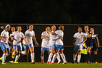 Chicago Red Stars midfielder Alyssa Mautz (4) celebrates scoring with teammates  during the second half against Sky Blue FC. Sky Blue FC and the Chicago Red Stars played to a 1-1 tie during a National Women's Soccer League (NWSL) match at Yurcak Field in Piscataway, NJ, on May 8, 2013.