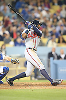 06/06/13 Los Angeles, CA: Atlanta Braves center fielder B.J. Upton #2 during an MLB game played between the Los Angeles Dodgers and the Atlanta Braves at Dodger Stadium. The Dodgers defeated the Braves 5-0.