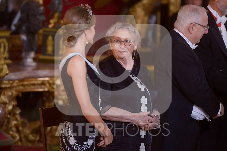 Spanish Royals offer Gala Dinner in honor of Israel president, Reuven Rivlin and his wife Nechama Rivlin at the Royal Palace  in Madrid, Spain. November 06, 2017. (ALTERPHOTOS/Borja B.Hojas)