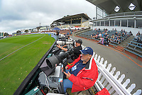 Photographers cover Day One of the first test between the New Zealand Black Caps and Bangladesh at Hawkins Basin Reserve in Wellington, New Zealand on Thursday, 12 January 2017. Photo: Dave Lintott / lintottphoto.co.nz