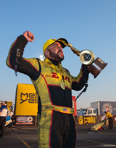 funny car, Camry, J.R. Todd, DHL, celebration, world champion, trophy