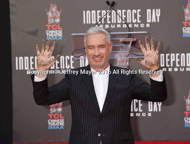 HOLLYWOOD, CA - JUNE 20: Director Roland Emmerich attends the hand and footprint ceremony for Director Roland Emmerich at 20th Century Fox's 'Independence Day: Resurgence' at TCL Chinese Theatre on June 20, 2016 in Hollywood, California.