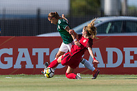 Bradenton, FL - Sunday, June 12, 2018: Kate Wiesner, Tanna Sanchez during a U-17 Women's Championship Finals match between USA and Mexico at IMG Academy.  USA defeated Mexico 3-2 to win the championship.