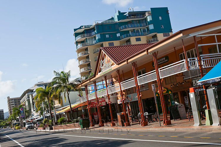 The Esplanade tourist strip.  Cairns, Queensland, Australia