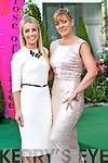Sarah Foale and Karyn Moriarty Tralee pictured at the Rose of Tralee fashion show in the Dome on Sunday night.