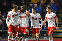 Freddie Ladapo of Rotherham United (10) celebrates his goal during Portsmouth vs Rotherham United, Sky Bet EFL League 1 Football at Fratton Park on 26th November 2019