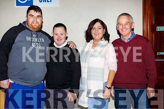 Gary O'Sullivan Castleisland, Stephen and Sheila Brosnan and Pat Looney at the Killarney I'm a Celebrity in the INEC on Thursday night