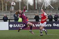 Lisa Evans of Arsenal scores the ninth goal for her team during Arsenal Women vs Bristol City Women, Barclays FA Women's Super League Football at Meadow Park on 1st December 2019