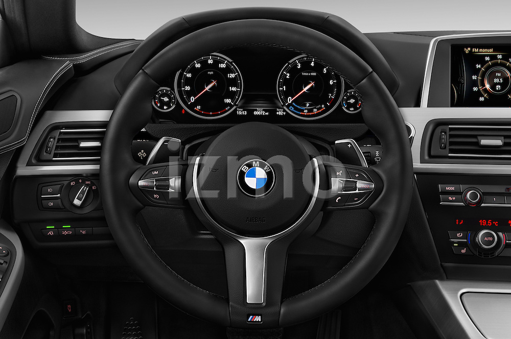 Car pictures of steering wheel view of a 2016 BMW 6 Series 640i Gran Coupe 4 Door Sedan Steering Wheel